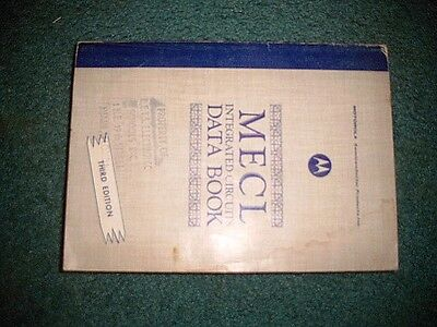MECL Integrated Circuits Data Book Motorola Third Edition