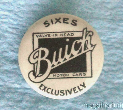 Rare Pin Back Badge: BUICK MOTOR CO Sixes 20/30's Automotive Collectible