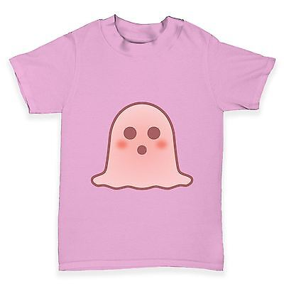 Twisted Envy Surprised Emoji Ghost Baby Toddler Funny T-Shirt