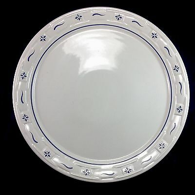 """Longaberger Blue Round 14.5"""" Serving Platter Cake Plate Dish Woven Traditions"""