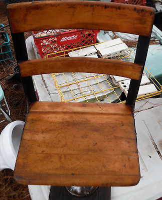 "Vintage School Chair with Adjustable Height ""Antique Distressed Patina"""