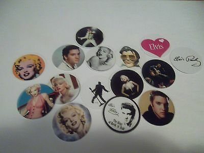 Pre Cut One Inch Bottle Cap Images Elvis Free Shipping