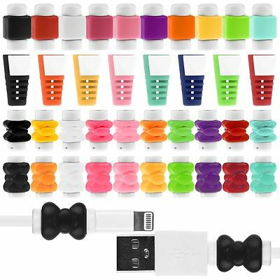 5sets/10pcs Cute Charger Cable Saver Protector Cover for iPhone 5 5S 6 6Plus