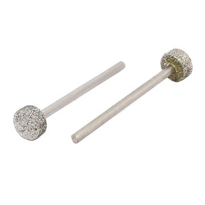 2.35mmx8mm Diamond Coated T Shape Mandrel Mounted Points Grinding Bits 2pcs