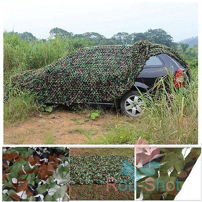Woodland Jungle Camouflage Netting Military Camo Hunting Cover Net Backing Tarp