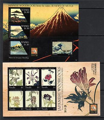 Tuvalu Mnh 2011 Japanese Woodblocks