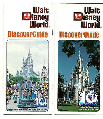 Vintage Lot of 2 Different 1981 Tencennial Walt Disney World Booklets