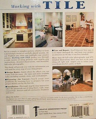"""""""WORKING WITH TILE""""Design selection-Layout-Installion-Care & Repair-Great Photos"""