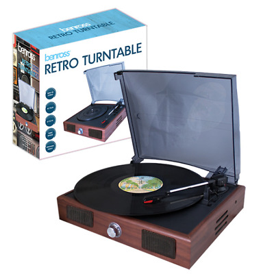 Retro Usb Stereo Turntable Record Player - Convert Vinyl To Mp3 33/45/78 Rpm