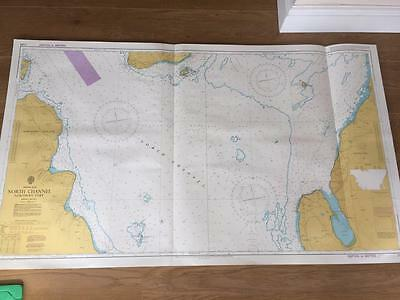 Vintage Admiralty Chart Map - North Channel Northern Part 2199