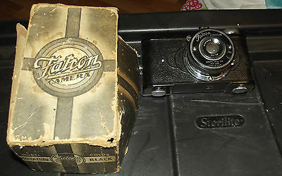 Vintage Falcon Miniature Camera Bakelite In Box Vest Pocket Film
