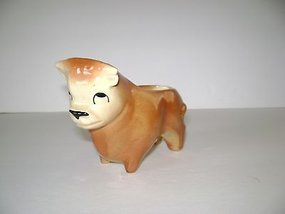 Vintage Shawnee Small BULL Planter 663 Brown & Tan