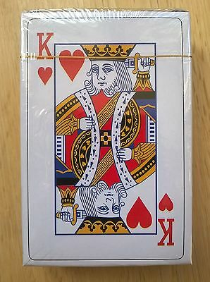 SET OF PLASTIC COATED PLAYING CARDS 9cm x 6cm (BRAND NEW SEALED)