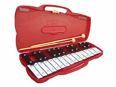 Percussion Plus PP920 25 Note Chromatic Junior Glockenspiel with Case & Beaters