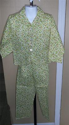 GIRL'S VTG RETRO 60s HIPPIE FLOWER CHILD SUIT TOP/JACKET & PANTS SUIT Sz 6X NWT