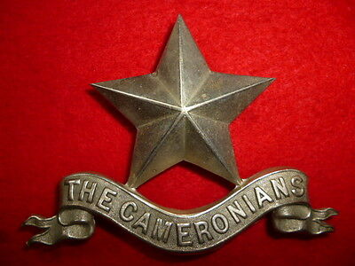 1st Bn. Cameronians Scottish Rifles Pipers Glengarry Cap Badge - Scottish