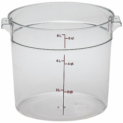 Cambro 6 Qt. Camwear Round Food Storage Containers, 12Pk Clear Rfscw6-135
