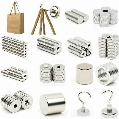 Super Strong Powerful N52 Magnet Rare Earth Neodymium Round Block 1-100X Magnets