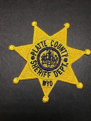 Platte County Sheriff Dept Wyoming  Patch