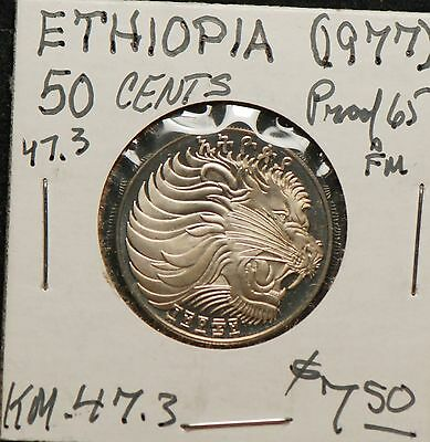 Ethiopia 1977 50 Cents, Proof, KM47.3                                       8lgm
