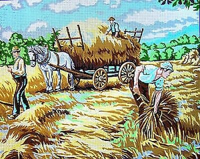 Haymaking Harvest Time Printed Tapestry Canvas Gobelin 14822