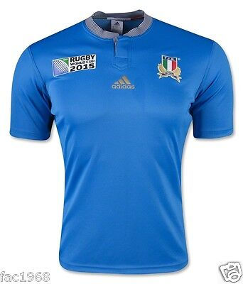 F.I.R FIR Italia Italy Rugby World Cup 2015 Home Jersey Shirt Blue XS L XL  New