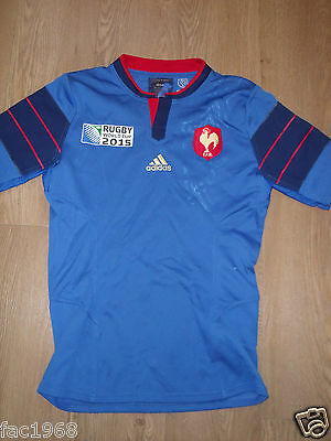 F.F.R. France French Rugby World Cup 2015 Mens Jersey Shirt L New