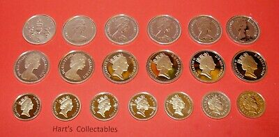 STUNNING PROOF FIVE PENCE (5p) COINS ALL COINS TAKEN FROM PROOF SETS