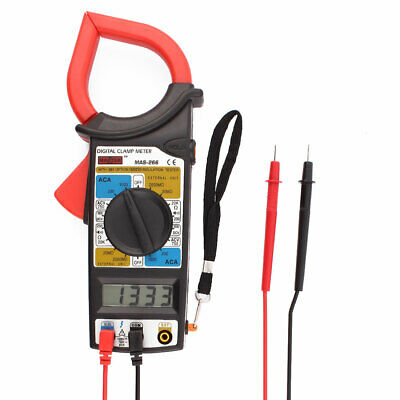 AC DC Multimeter Electronic Tester Digital Clamp Meter w Test Leads