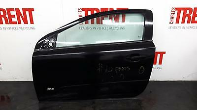 2006 VAUXHALL ASTRA H 3 Door Hatchback Black N/S Passengers Left Front Door