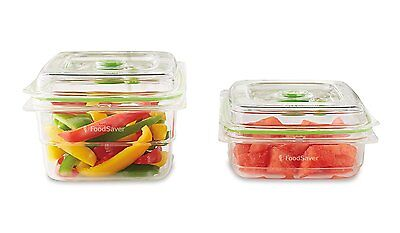 NEW FoodSaver 0.7L & 1.2L Combo Pack Fresh Containers for Vacuum Sealing Systems
