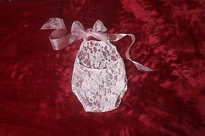 Photographers Prop,Newborn Baby Girl,Pink Lace Halter Neck Romper with low back