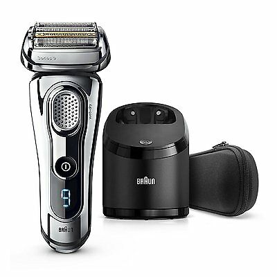 Braun Series 9 9295cc Men's Electric Shaver Wet/Dry Clean & Renew Charger Chrome