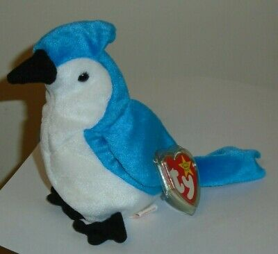 Ty Beanie Baby ~ ROCKET the Blue Jay Bird ~ MINT with MINT TAGS ~ RETIRED