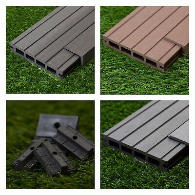 50 Square Metres of Wooden Composite Decking Inc Boards, Edging & Fixing Packs