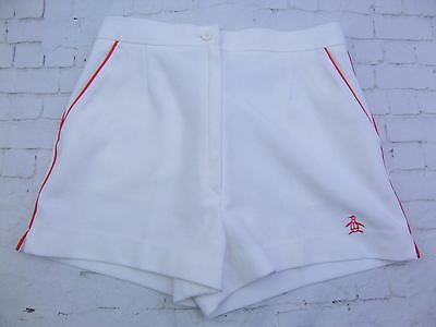 Vintage 1980s Ladies White Grand Slam by Munsingwear Tennis Shorts -W26- DU84