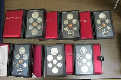 Lot of 6 Canada Double Dollar Sets 1980 1981 1982 1984 1990