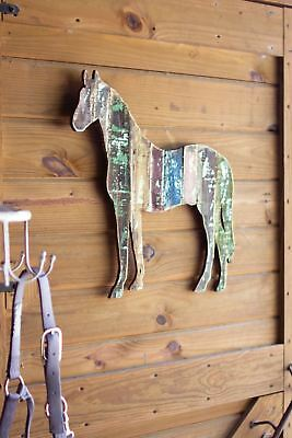 Kalalou Reclaimed Wooden Horse Wall Art