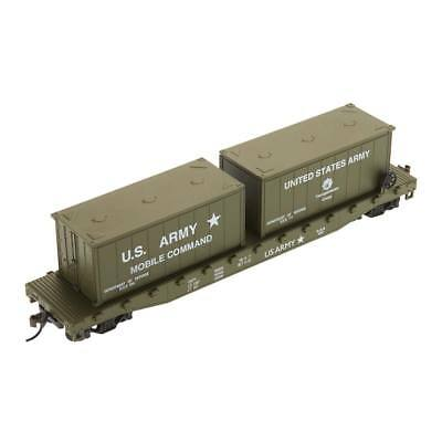 NEW Model Power 51  Flat w/2 20  Containers US Army HO 98309