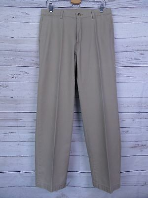 Vintage Light Khaki Tapered Preppy Lee Cotton Chino Trousers W33 DU99