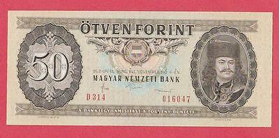 1986 Hungary 50 Forint Note Unc