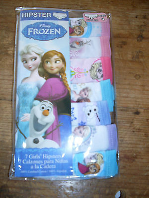Girls NWT NEW Hipster Panties Panty Frozen 7 pack of underwear princess cotton 4