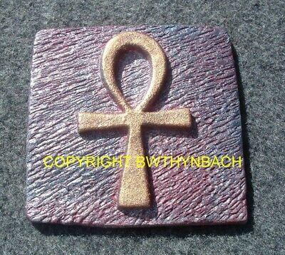 New Design Rubber Latex Mould Mold Moulds Make A Egyptian Ankh Cross Wall Plaque