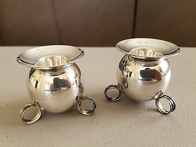 Pair (2) Vintage Mexico Sterling Silver Candle Holders Signed Hallmarked L@@k!!