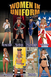 WOMEN IN UNIFORM ~ COLLAGE 24x36 PINUP POSTER NEW/ROLLED!