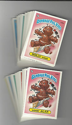 FREE  WRAPPER 1986 GARBAGE PAIL KIDS 4TH SERIES COMPLETE SET 84 STICKER CARDS