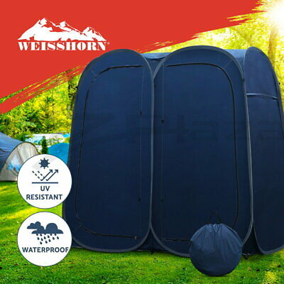 WEISSHORN Portable Pop Up Double Camping Shower Tent Outdoor Toilet Change Room