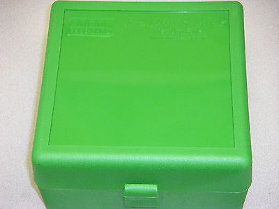 MTM Case Gard™ New Plastic Ammo Box 100 Rd RM-100-10 Rifle 308 6MM 243 GREEN