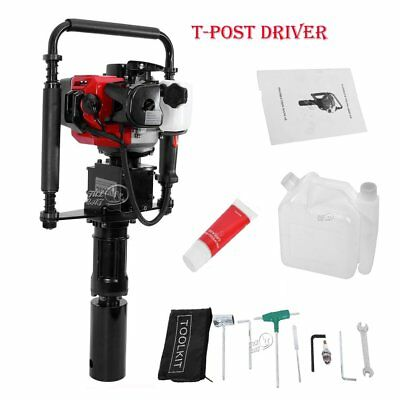 32CC Gas Powered T-Post Driver 1.2HP 2 Stroke One Man Gasoline Push Pile Driver
