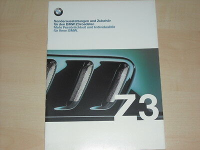 bmw z 3 prospekt roadster sonderausstattungen und zubeh r. Black Bedroom Furniture Sets. Home Design Ideas